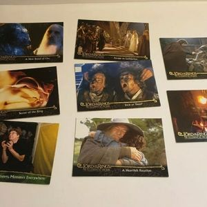 The Lord of The Rings 2001 Topps Trading Card Lot